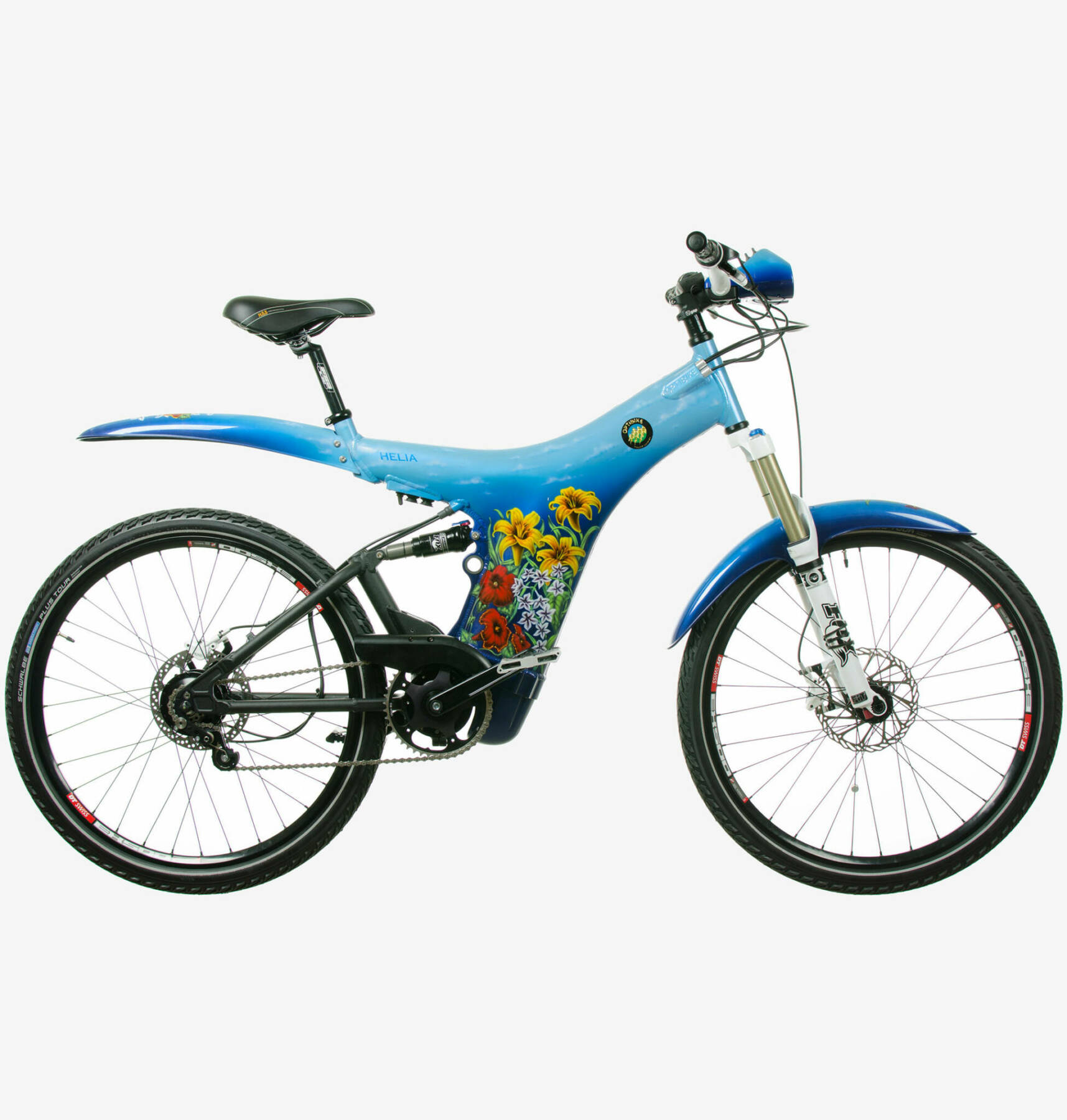 Optibike Helia blue with flowers