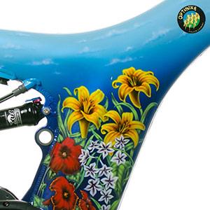 Optibike Blue Flower Paint Job