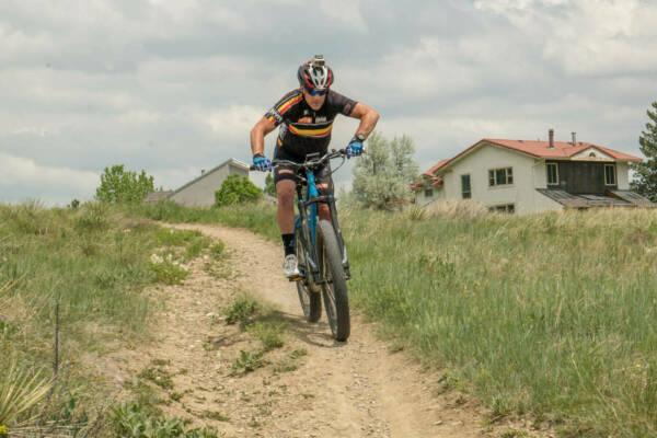 Optibike SIMBB 29 electric bike on single track MTB trail