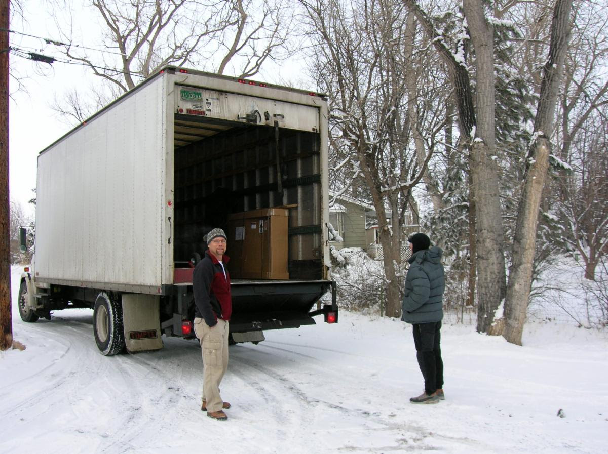 The first Optibike loaded into a truck for shipment to South Africa in 2007