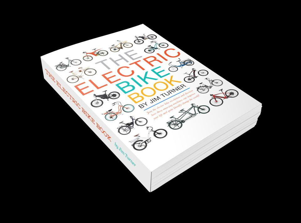 The Electric Bike Book by Jim Turner, released in 2013 and is dedicated to helping people understand the technology and ability of electric bikes to change their lives