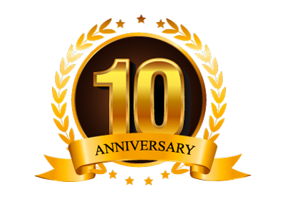 10 Year Anniversary Badge