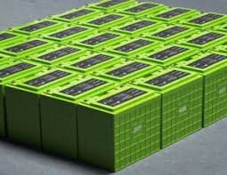A group of lithium batteries
