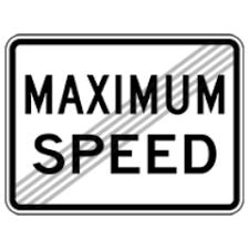 """Sign that says """"maximum speed"""""""