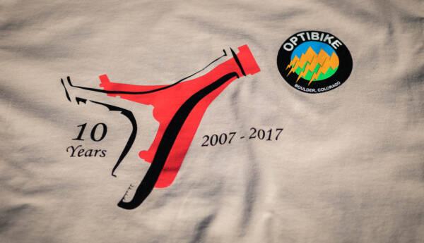 Optibike 10 year anniversary T-Shirt