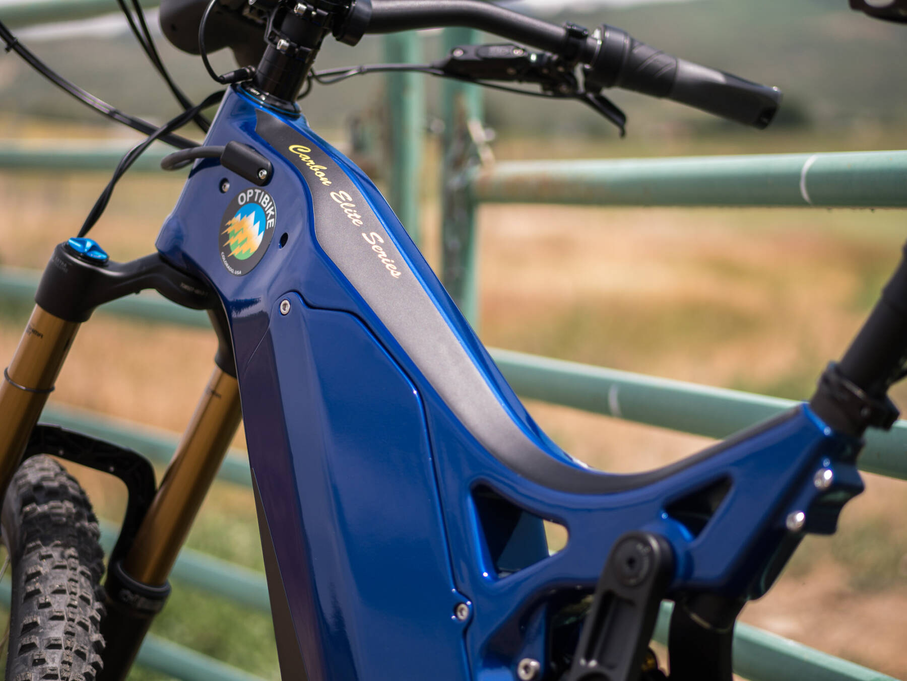 Optibike R15C Made in USA eMTB Electric Bike with Blue Paint