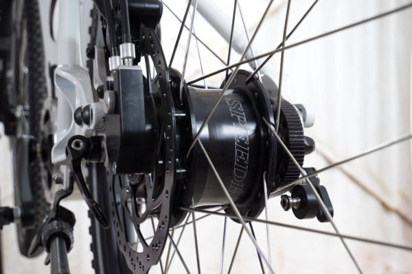 Rohloff hub gives easy gear changes, you can shift while stopped and easily get moving again