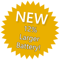 New! 12% larger battery